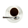 hot cup of coffe isolated over white