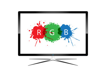 LED Television - Vector Design