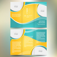 brochure folder leaflet geometric abstract element color