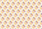 Classic Purple and Yellow Flower Pattern on Pastel Color