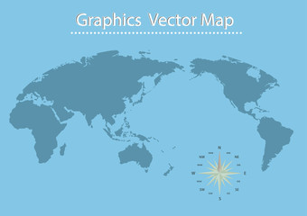 World map of vector Information Graphics
