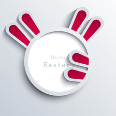 Vector modern easter bunny background. Eps 10