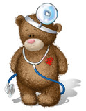 Brown teddy bear Audiologist