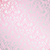 vector seamless backdrop. damask pattern. flower wallpaper