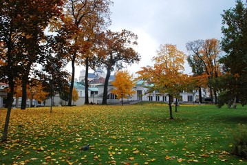 View of the Presidential Park in Vilnius