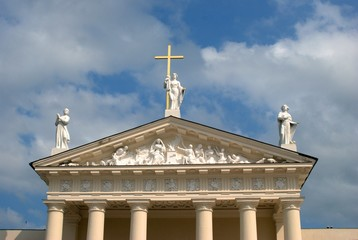 The Cathedral of Vilnius is the main Roman Catholic Cathedral