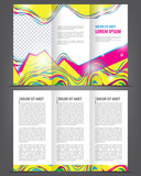 Trifold beauty brochure print template bright design poster