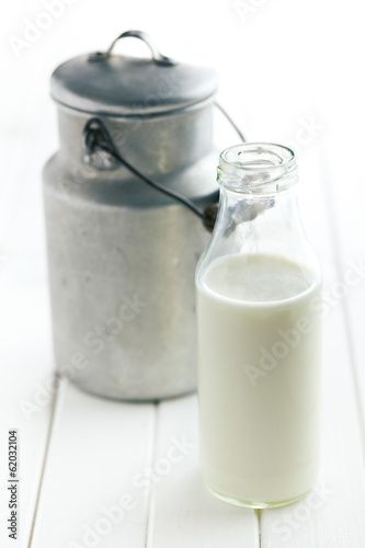 milk in bottle