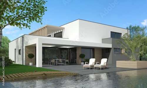 canvas print picture Villa Bauhaus