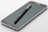 Phablet with selective focus on stylus pen