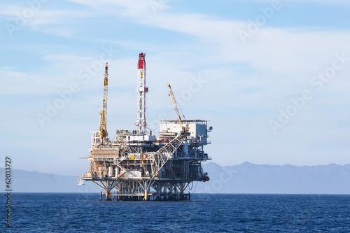 Staande foto Industrial geb. Oil Rig
