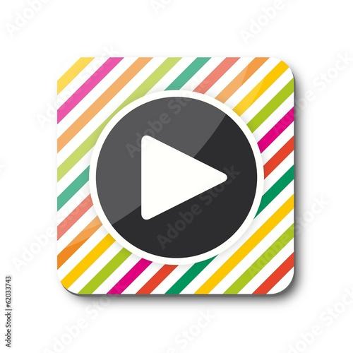 Multicolor Player Button