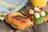 Delicious sandwiches for a healthy picnic