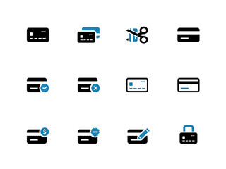 Credit card icons on white background.