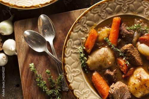 Keuken foto achterwand Voorgerecht Homemade Irish Beef Stew