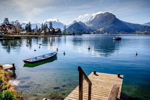 Tuinposter Alpen Lac d'Annecy rive est