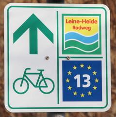 Leine-Heide Radweg (Eichsfeld, Thüringen, Deutschland, Europa)