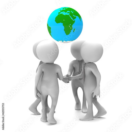 Business agreement on a world