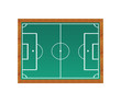 Blackboard with a soccer field