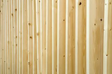 Holzplatten in einer Reihe