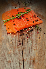 Salmon with lemon and pepper