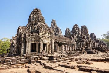 Bayon temple at Angkor Thom, Siem Reap, Cambodia.