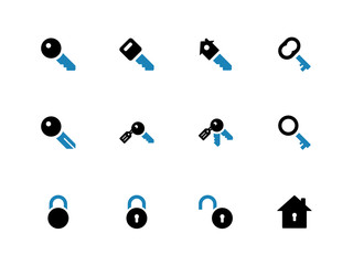 Key duotone icons on white background.