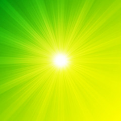 green energy lights, abstract environmental concept background