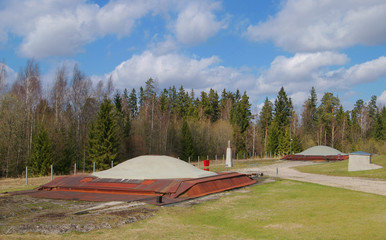 Soviet nuclear missile silos in Plokstine (Lithuania)