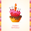 Birthday card with cake - 62038966