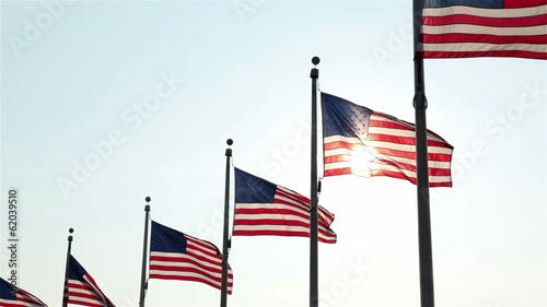 Flags at Washington Monument