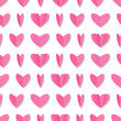 Seamless pattern with cute paper hearts