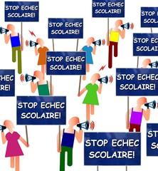 """Manif """"Stop échec scolaire!"""""""