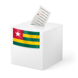 Ballot box with voting paper. Togo