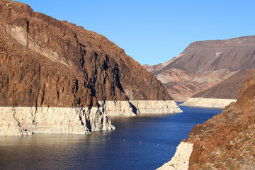 Lake Mead over the Hoover Dam in Nevada