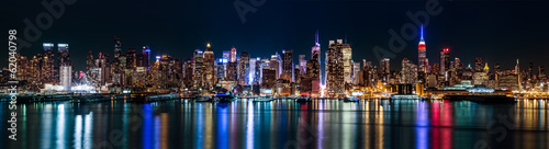 Foto op Plexiglas New York City New York midtown panorama by night