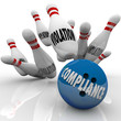Compliance Bowling Ball Strike Violations Follow Rules to Win