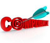 Compliance Target Aiming Follow Rules Laws Regulations Guideline