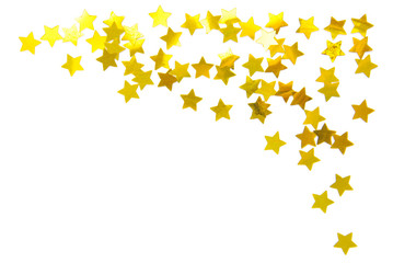 stars frame isolated on white