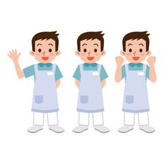 男性の介護士