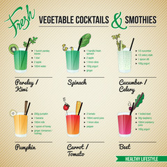 FRESH VEGETABLE COCTAILS & SMOTHIES