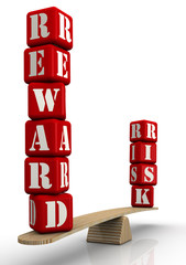 Reward and risk. Words on the scales