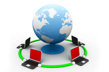 Global network the Internet..
