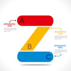creative 'Z' alphabet info-graphics design vector