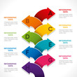 creative colorful arrow info-graphics design vector