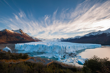 Perito Moreno Glacier in the autumn afternoon, Argentina.