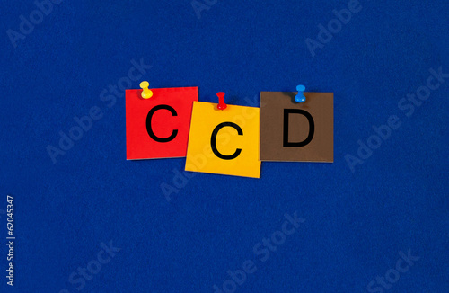 CCD, sign series for sensors, digital cameras, video and technol
