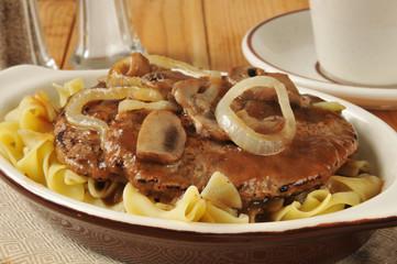 Salisbury steak closeup