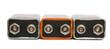 Leinwanddruck Bild - nine volt batteries