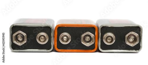 Leinwanddruck Bild nine volt batteries